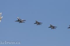 F-18 an F-16